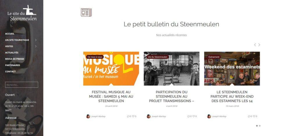 Création Site Web Go Online pour le Steenmeulen, tourisme
